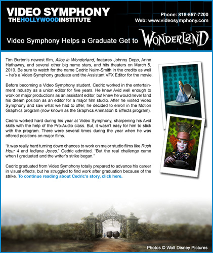 Video Symphony Email Design