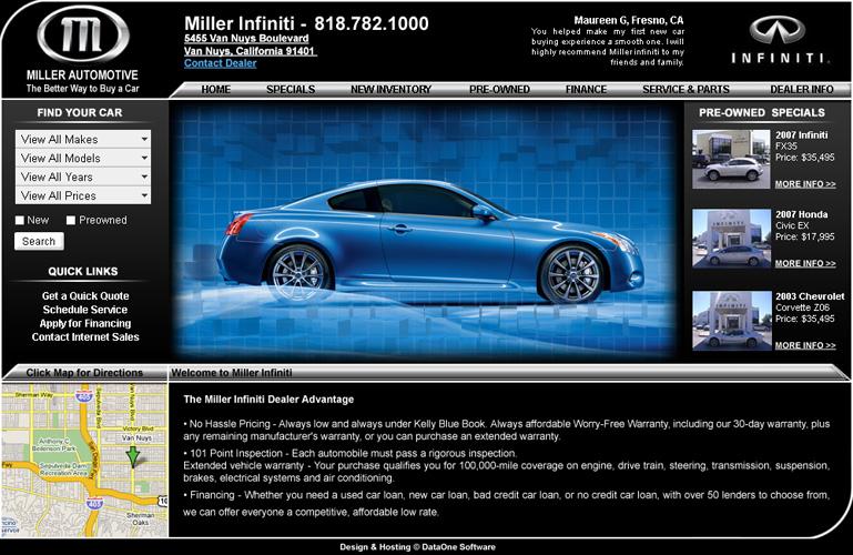 Miller Auto Website