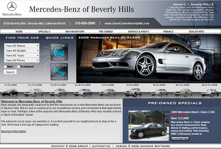 MB of Beverly Hills Website