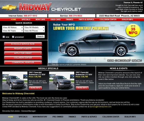 Midway Chevy Website