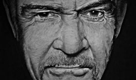 Sean Connery, Charcoal Drawing